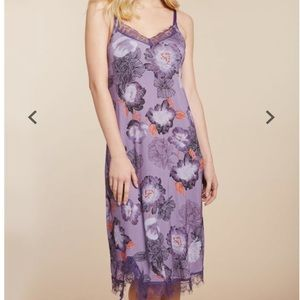 Jessica Simpson Purple Floral Nursing Gown